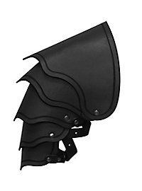 Schulterpanzer Leder schwarz Drachenreiter