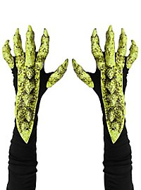 Dragon claws gloves green