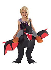 Dragon Rider black Inflatable Child Costume