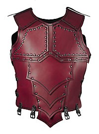 Leather Torso - Dragonrider red
