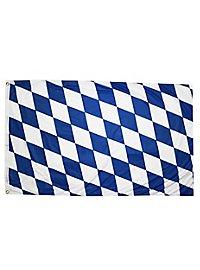 Drapeau bavarois à losanges blancs et bleus grand