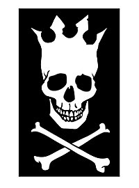 Drapeau de pirate couronne