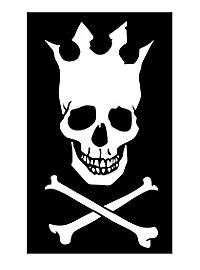 Drapeau de pirate couronne