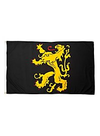 Drapeau lion d'or