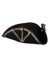Dreispitz Admiral schwarz-gold