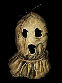 Düstere Vogelscheuche Maske aus Latex