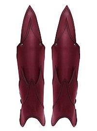 Beinschienen - Dunkelelf rot