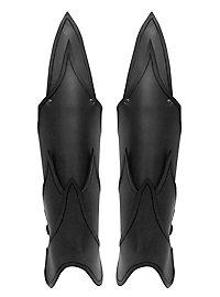 Beinschienen - Dunkelelf schwarz