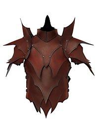 Lederrüstung mit Schultern - Dunkelelf braun