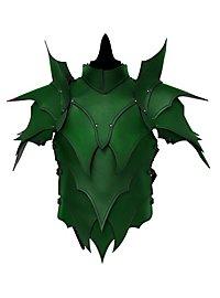 Lederrüstung mit Schultern - Dunkelelf grün