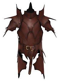 Lederrüstung mit Schultern und Beintaschen - Dunkelelf braun