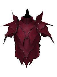 Lederrüstung mit Schultern - Dunkelelf rot