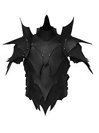 Lederrüstung mit Schultern - Dunkelelf schwarz