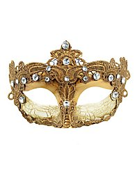 Dunkle Colombina Venezia Maske