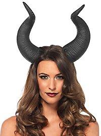 Dunkle Teufelshörner Haarband