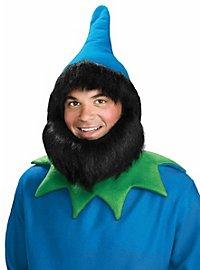 Dwarf Hat with Beard & Hair blue