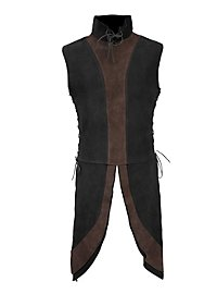 Dwarf Surcoat black-brown made of suede