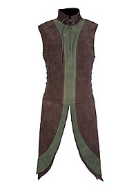 Dwarf Surcoat brown & green made of suede