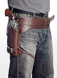 Einfaches Pistolenholster braun aus Leder