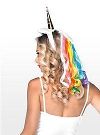 Einhorn Haarband regenbogenfarben