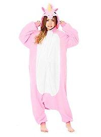 Einhorn Kigurumi Kostüm pink