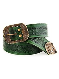 Elf Leather Belt green