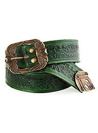 Elf Leather Belt green