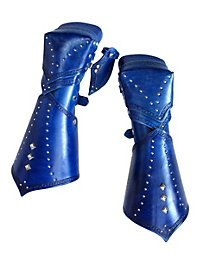 Elf Vambraces with Hand Guard blue