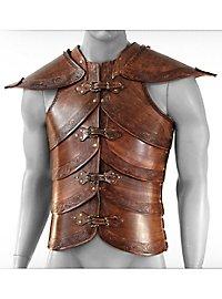 Lederrüstung mit Schultern - Elfenharnisch, braun