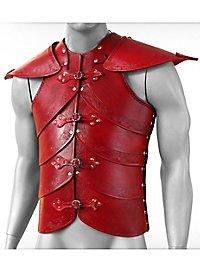 Lederrüstung mit Schultern - Elfenharnisch, rot