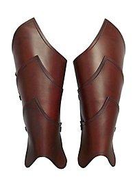 Beinschienen - Elfenkrieger braun