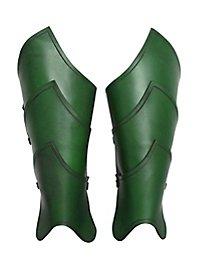 Beinschienen - Elfenkrieger grün