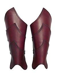 Beinschienen - Elfenkrieger rot