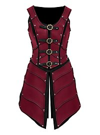 Elfenkriegerin Lederrüstung rot