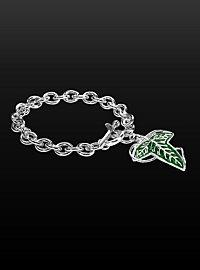 Elven Leaf Charm Bracelet