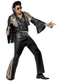 Elvis costume black-gold