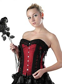 Embroidered Corset deep red