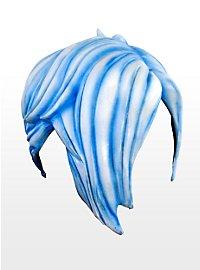 Emo blau Latexperücke