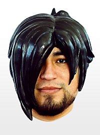 Emo noir Perruque en latex