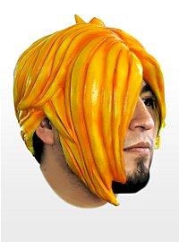 Emo orange Perruque en latex