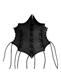 Enchantress Leather Bustier black