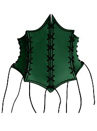 Enchantress Leather Bustier green