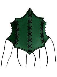Enchantress Leather Bustier green