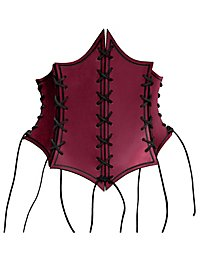 Enchantress Leather Bustier red