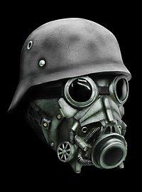 Endzeit Soldat Maske aus Latex