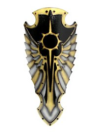 Engel Schild schwarz Polsterwaffe