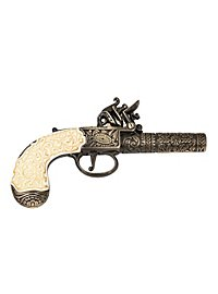 English Flintlock Pistol Replica Weapon