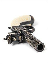 English Flintlock Pistol Replica Weapon