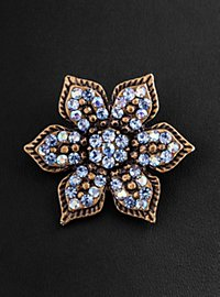 English Violet Brooch antique