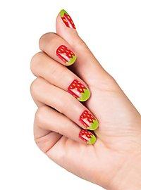 Erdbeer Fingernägel